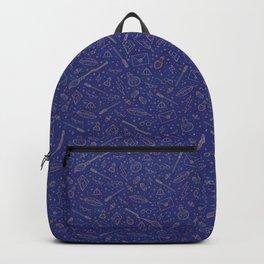 Yer a Wizard - Blue + Bronze Backpack