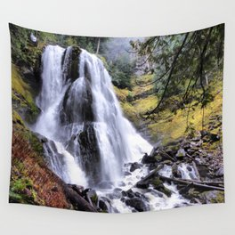 pacific northwest waterfall wall tapestry