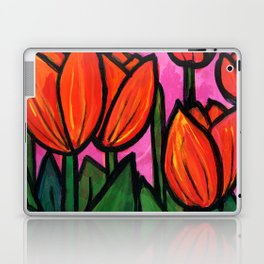 Tulips at Sunset Laptop & iPad Skin