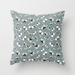 Crisscross Butterflies V.03 - Stone Gray Color Throw Pillow