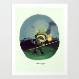 Lt. Meowington Art Print