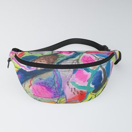 Fluorite Thin Section Watercolor Fanny Pack