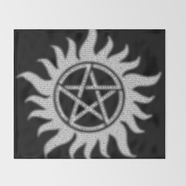 Carry On Supernatural Pentacle Throw Blanket