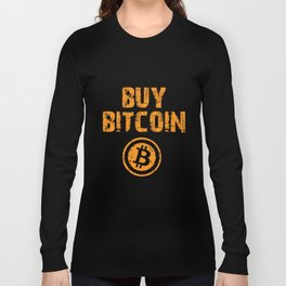 Buy Bitcoin - Cryptocurrency T-Shirts Long Sleeve T-shirt