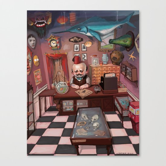 Mr. Chudderley's Shop of Curiosities Canvas Print
