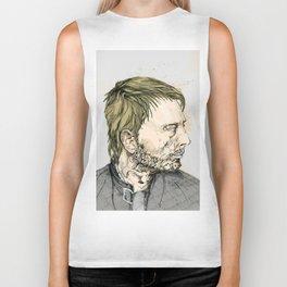 Thom Yorke Print Biker Tank