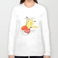 pokeball Long Sleeve T-shirts featuring Pokeball by Mie Kristensen