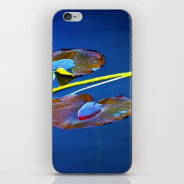 Lily Pads on Blue Water iPhone Skin