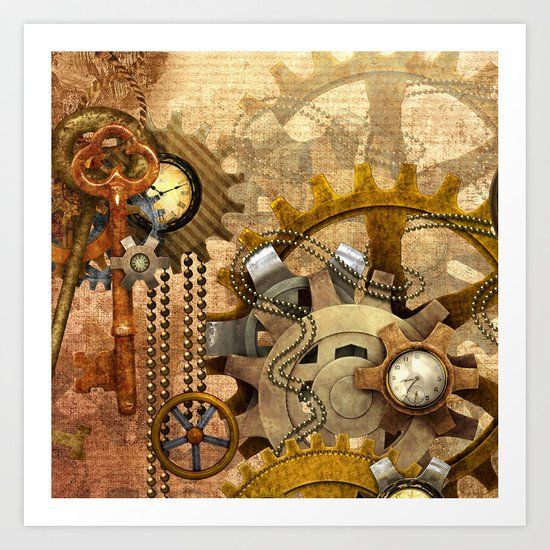 Steampunk Art Print By Ancello Society6