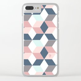 Starry cubes pattern Clear iPhone Case