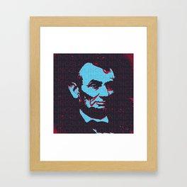 LINCOLN - RED Framed Art Print