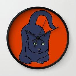 Russian Blue Cat Wall Clock