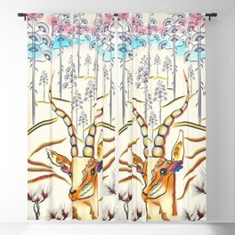 Vibrant Jungle Antelope Blackout Curtain