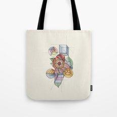 La geometría de las flores Tote Bag
