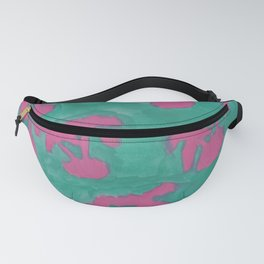 Pink and Green Island Palms Fanny Pack