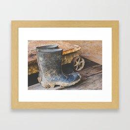Rubber Boots at Philo Apple Farm Framed Art Print