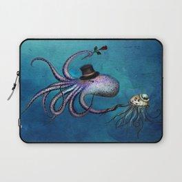 Underwater Love // octopus jellyfish Laptop Sleeve