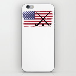 Field Hockey design USA American Flag designShirt iPhone Skin