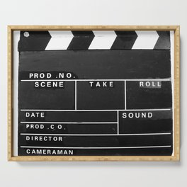 Film Movie Video production Clapper board Serving Tray