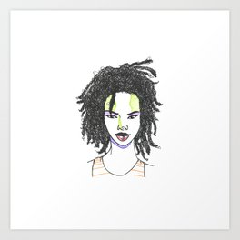 The Rapper-a-Day Project | Day 18: Lauryn Hill Art Print