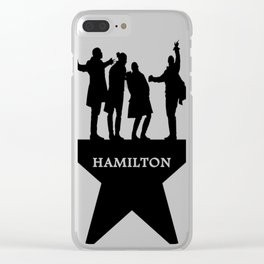 hamiton musical quote Clear iPhone Case