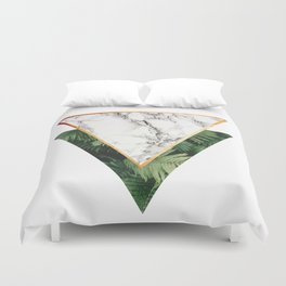 Geometric Tropical Marble Duvet Cover