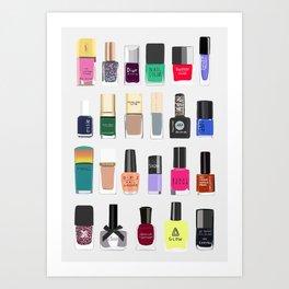 My nail polish collection art print Art Print