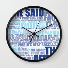 The Office Blue Wall Clock