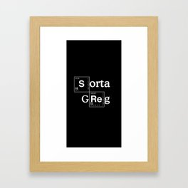 Sorta Greg Framed Art Print