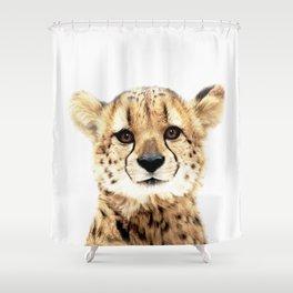 Cheetah Cub Shower Curtain
