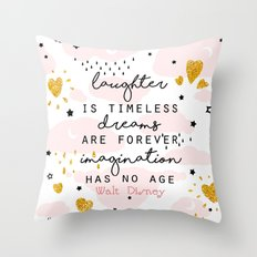Imagination Quote Throw Pillow