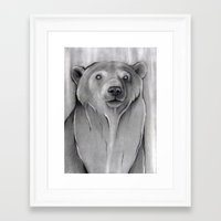 teddy bear Framed Art Prints featuring Teddy Bear by Puddingshades