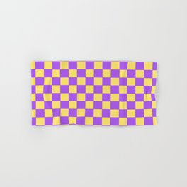 Checkers - Purple and Yellow Hand & Bath Towel