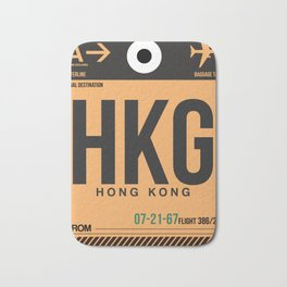 HKG Hog Kong Luggage Tag 2 Bath Mat