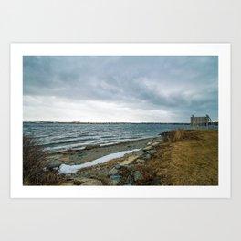 Newport Harbour Art Print