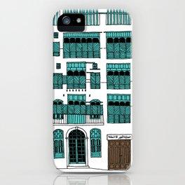 Jeddah AlBalad Souq AlJami Facade Turquoise iPhone Case