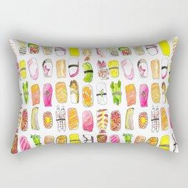 Sushi Watercolor-- Nigiri Sushi Rectangular Pillow