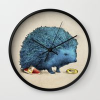 sonic Wall Clocks featuring Sonic by Eric Fan