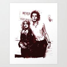 Sid and Nancy Art Print