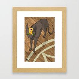 Spooky Kitty Framed Art Print
