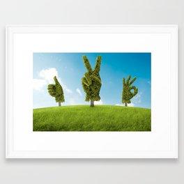 Positive nature Framed Art Print