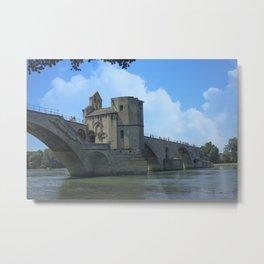 Le Pont d'Avignon Metal Print