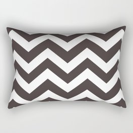 Black coffee - grey color - Zigzag Chevron Pattern Rectangular Pillow