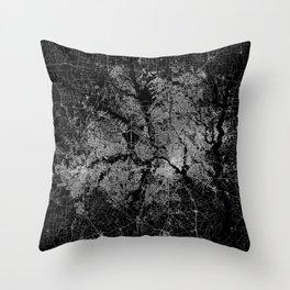 Dallas map Texas Throw Pillow