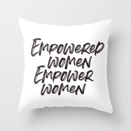 Empowerd Women Empower Women Throw Pillow