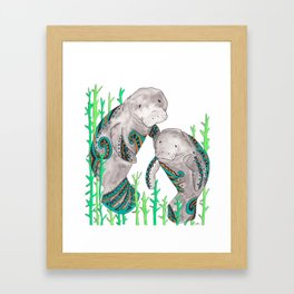 Manatees Framed Art Print