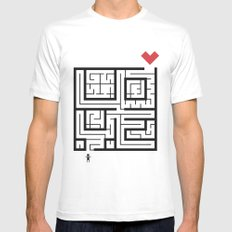The Path of Love MEDIUM White Mens Fitted Tee