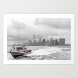 Coast Guard and NYC Art Print