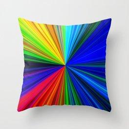 Colours of a Rainbow Throw Pillow