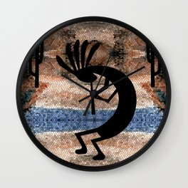 Kokopelli Southwest Desert Wall Clock